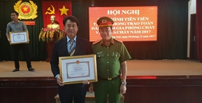 The best company award for fire fighting