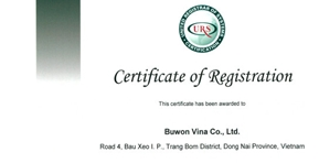 Buwon have achieved ISO certification.